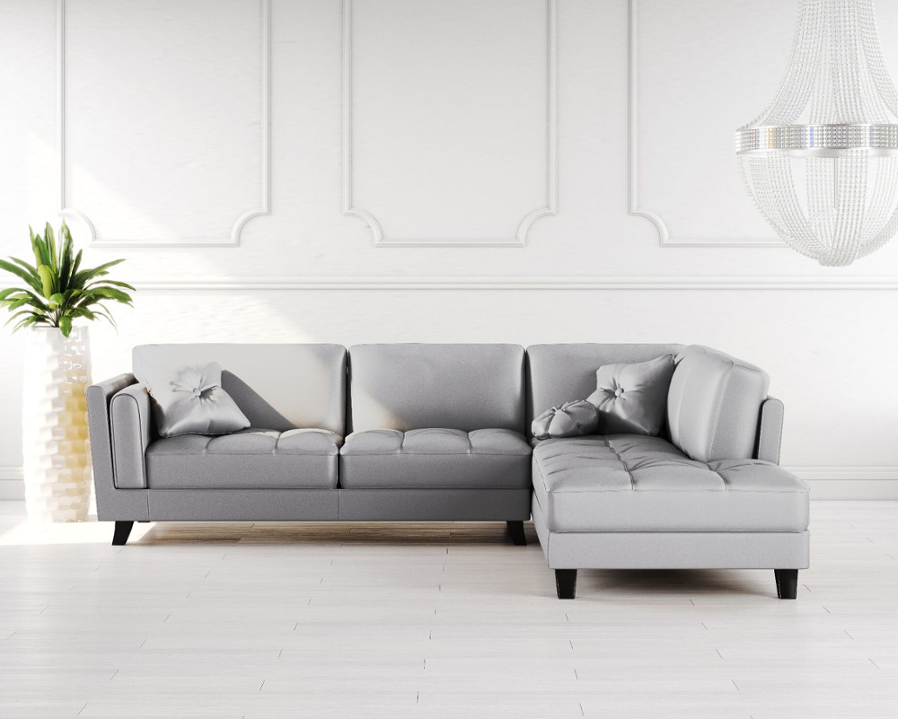 Buy Cappuccino Leather Corner Sofa Online In London Uk