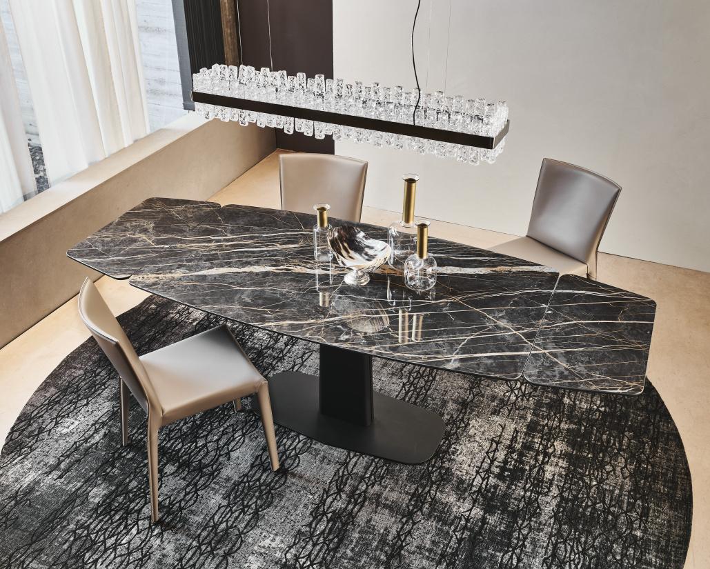 Linus Drive Kermik Extending Dining Table