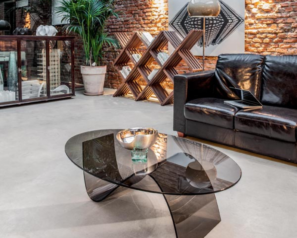 Alicia Curved Glass Coffee Table
