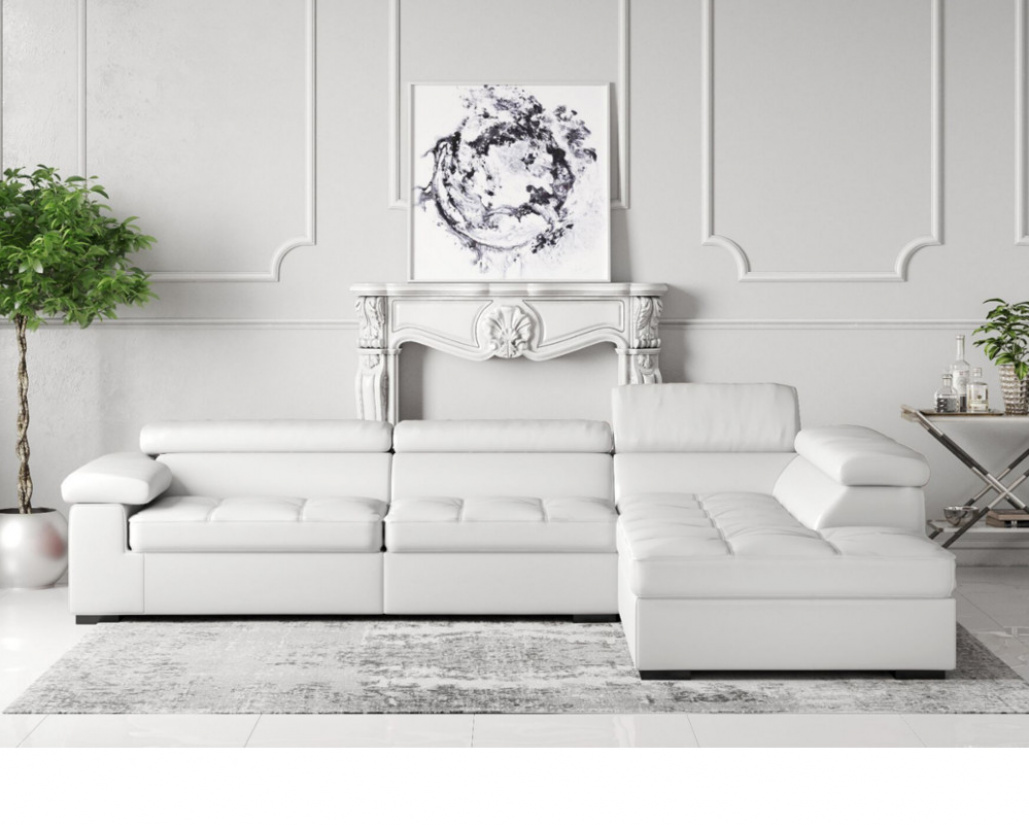Anna Leather Corner Sofa