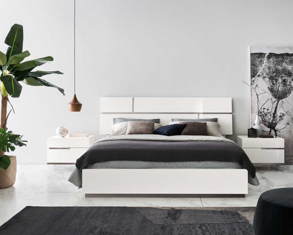 Isla White Gloss Bed