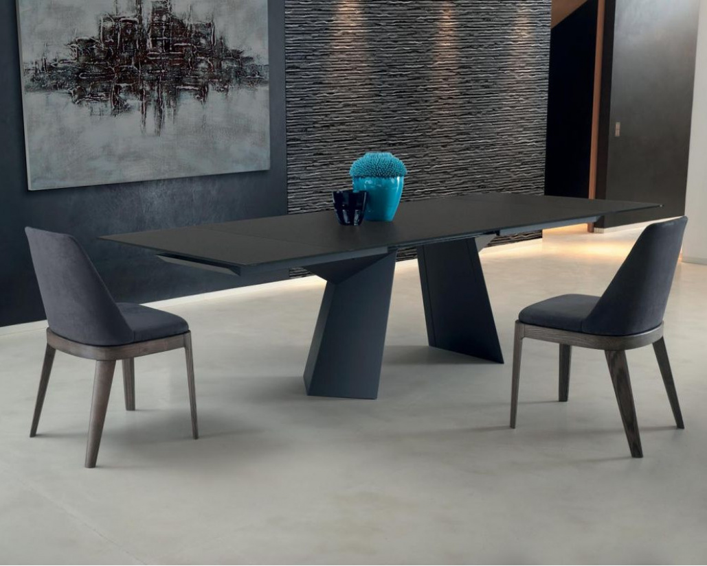 Bontempi Fiandre Glass Extending Dining Table