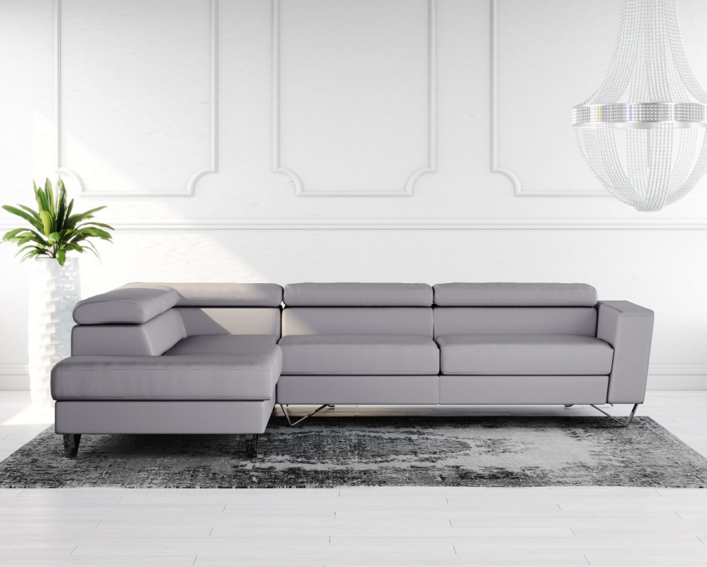 Buy Brook Leather Corner Sofa Online in London, UK | Denelli Italia