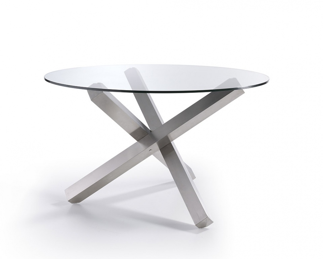 Eclipse Dining Table - Stainless Steel Base