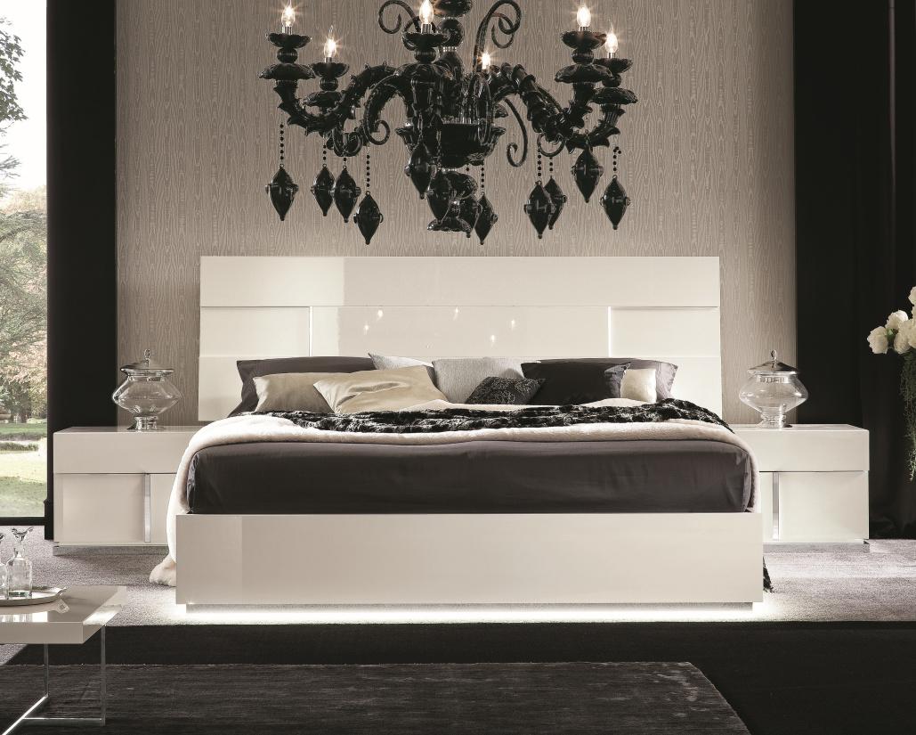 Canova Bed - White Gloss