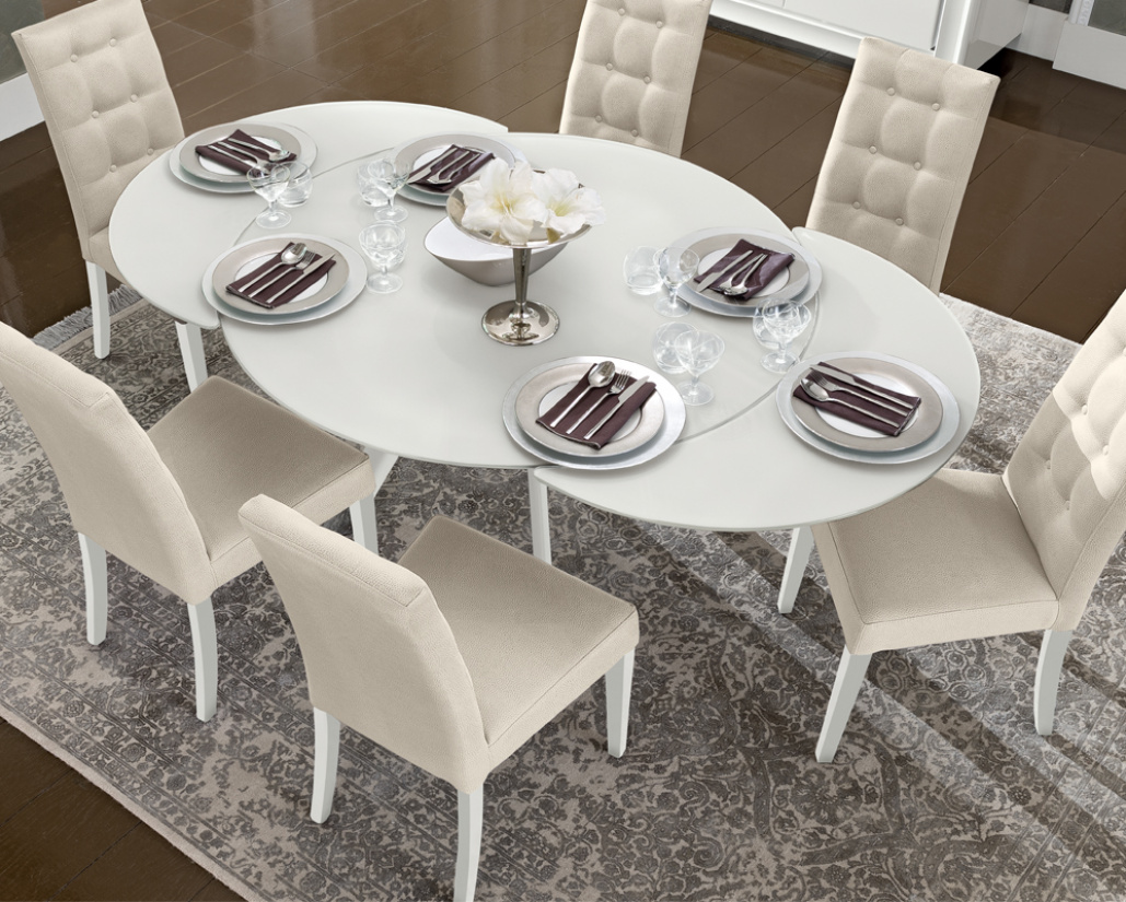 Buy Dexter Extending Round Dining Table Online In London Uk Denelli Italia