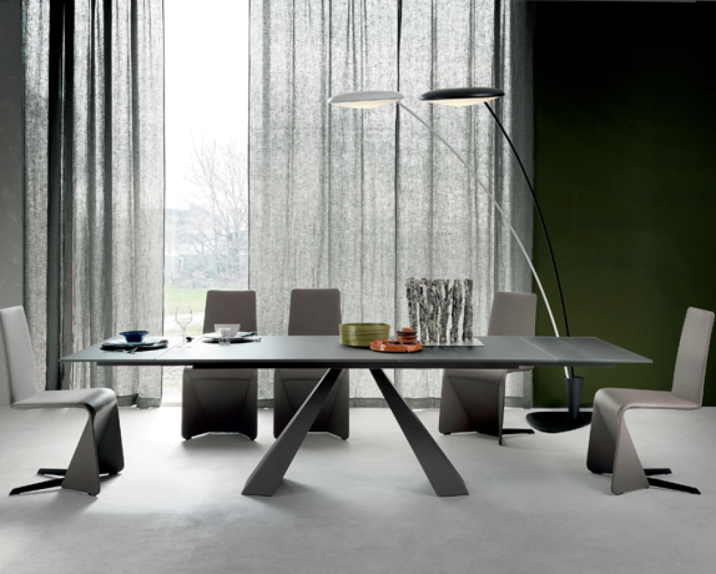 Edward Drive Glass Extending Dining Table  - Glass Top
