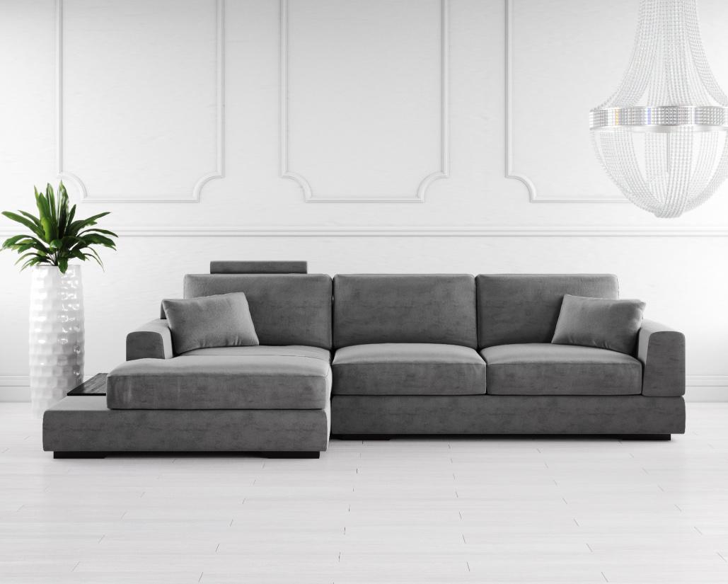 Gino Fabric Corner Sofa
