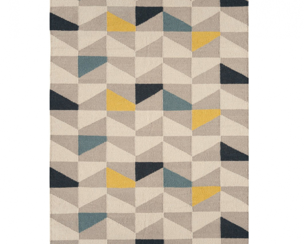 Hackney Geo Mustard Rug - Asiatic
