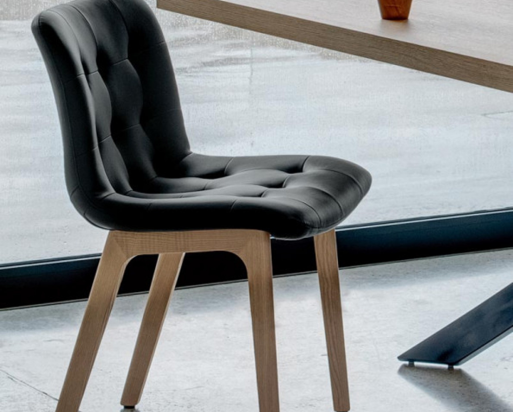 Kuga Dining Chair - Wood Legs