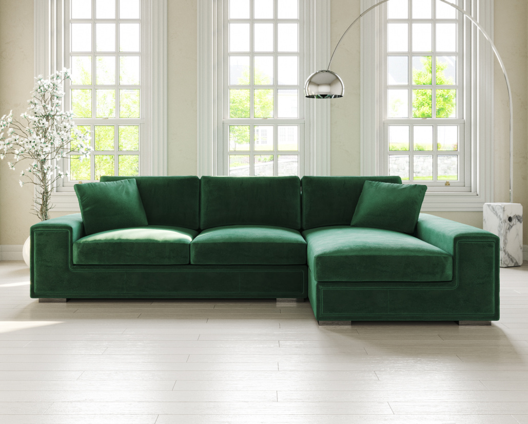 Lupo Fabric Corner Sofa