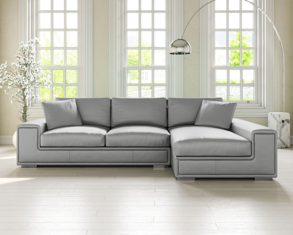Lupo Leather Corner Sofa