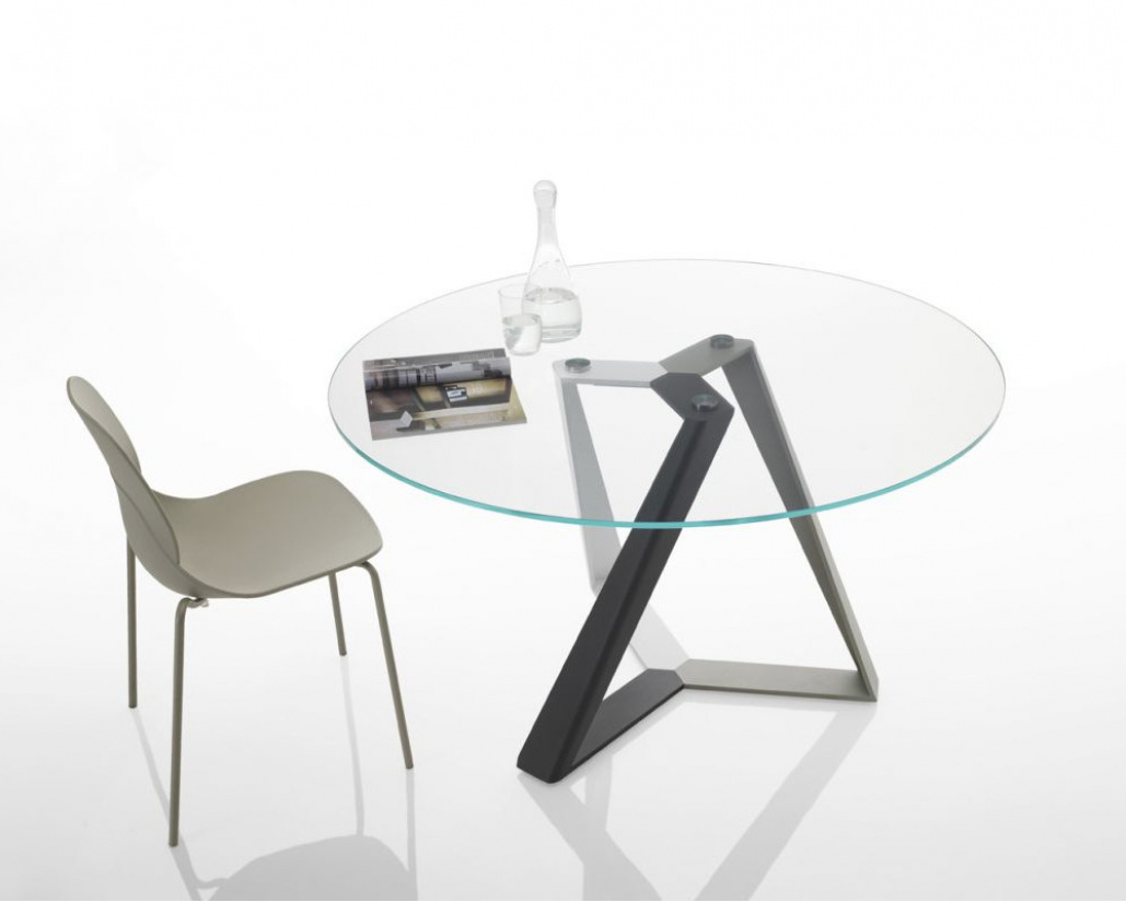 Millennium Glass Round Dining Table