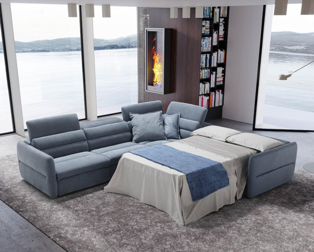 Mixtape Corner Sofa Bed with Recliner