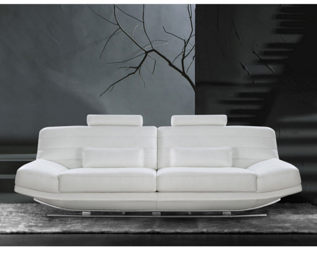 Noir Designer Leather Italian Sofa