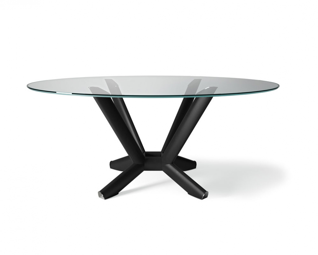 Planer Glass Round Dining Table