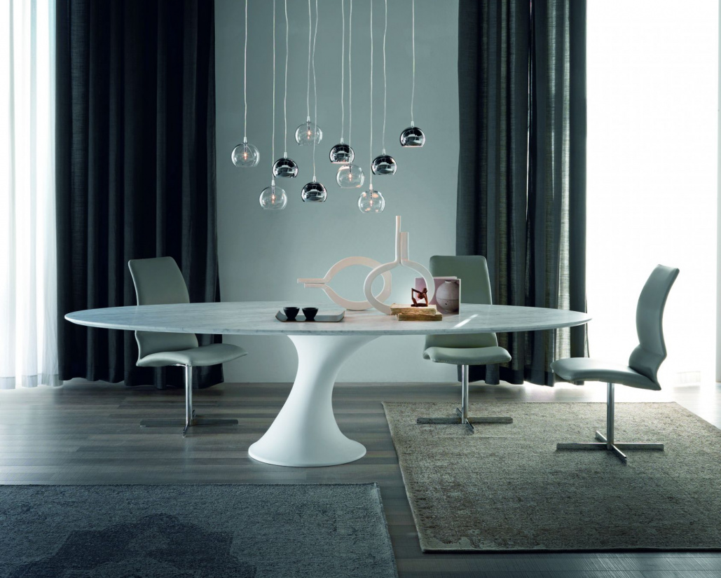 Reef Dining Table - Matt White Base