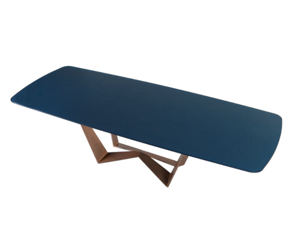 Reverse Glass Dining Table Shaped Top