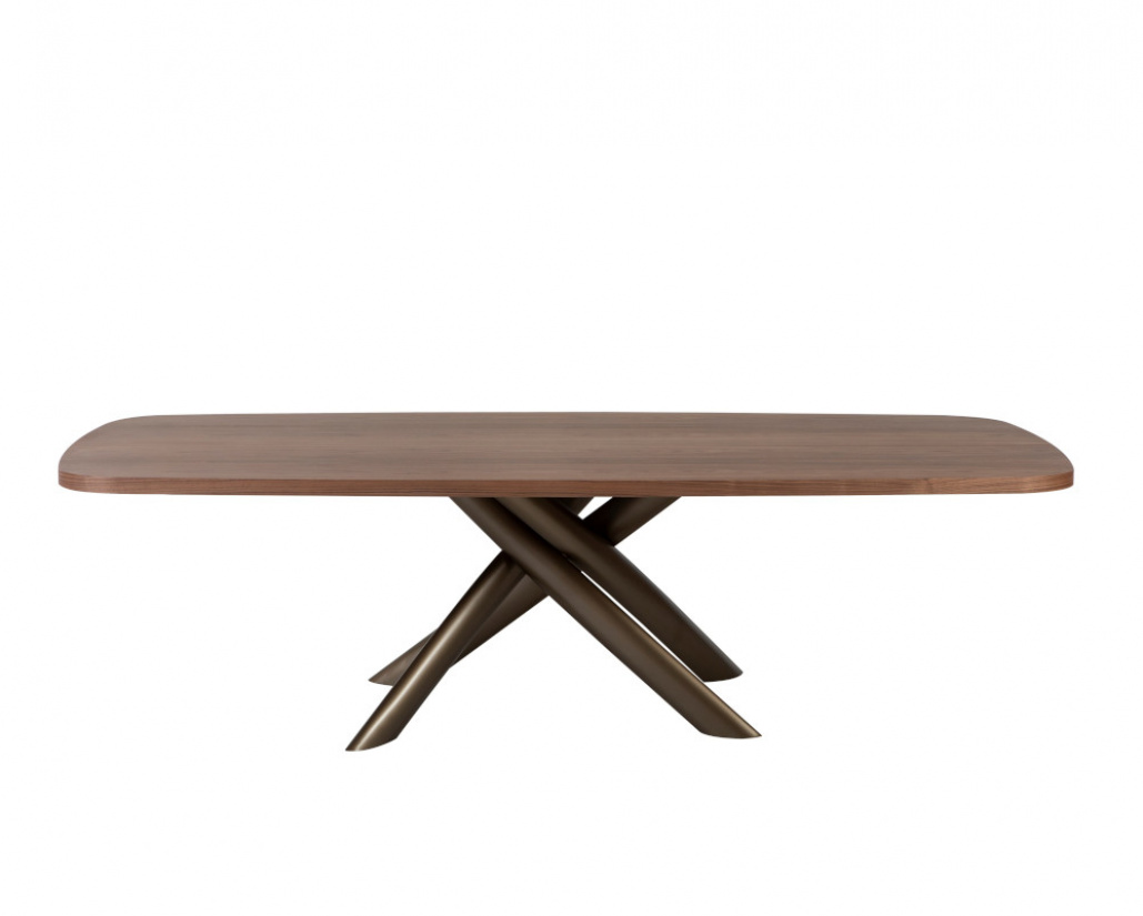 Style Wood Top Dining Table