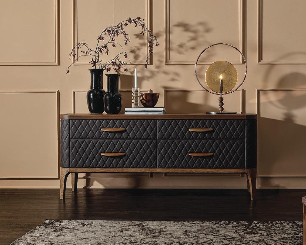 Tiffany Upholstered 4 Drawer Chest