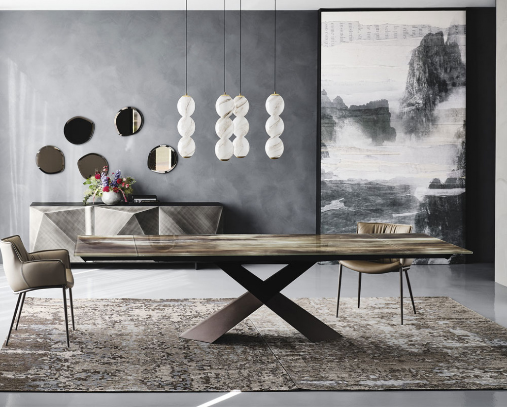 Tyron Crystalart Extending Dining Table