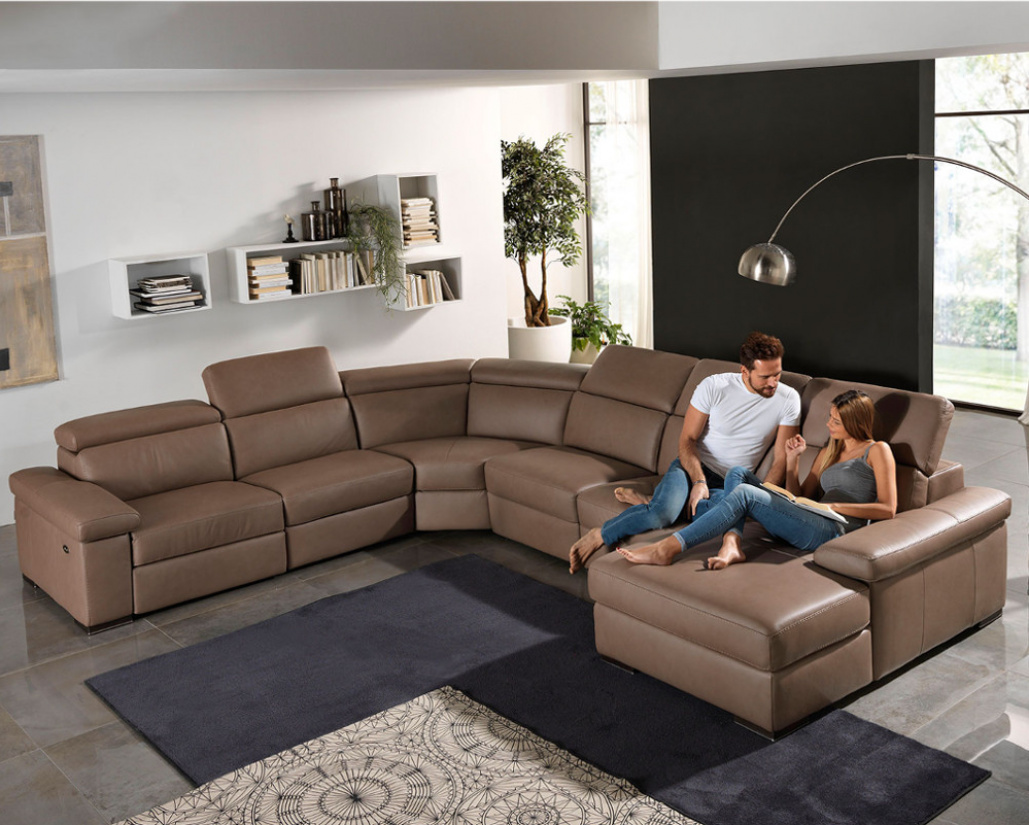 Valery Leather Corner Sofa