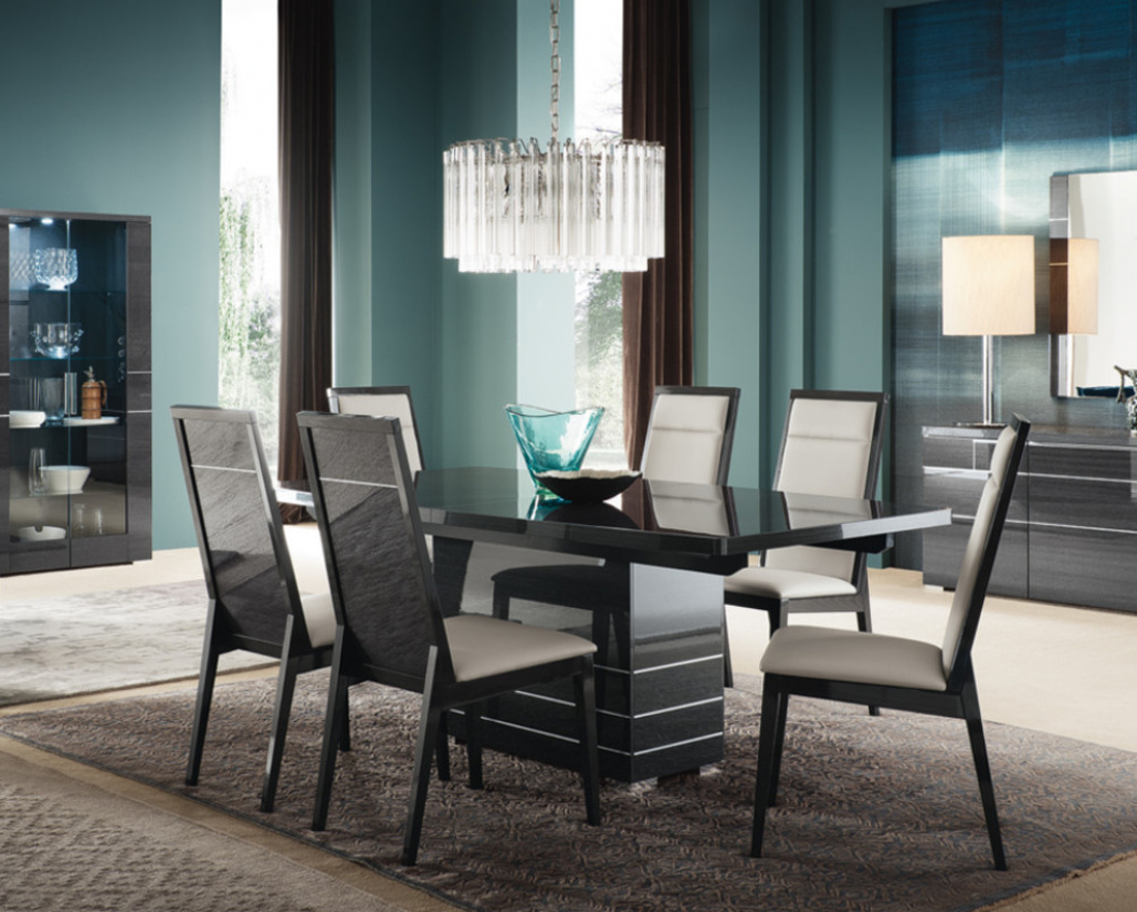 Versilia Extending Dining Table - High Gloss Dining Table