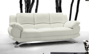 Alonzo Modern Leather Sofa - White Leather