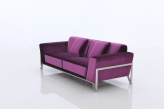 Rouche Purple Fabric Sofa