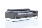 Juliett Italian Sofa - Chrome Arm View