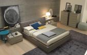 Lido Leather Bed Visone