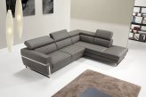 Michel Leather Corner Sofa