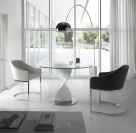 Stella Dining Table - White High Gloss Base