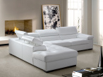 Anna Modern Leather Corner Sofa