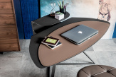 Storm Office Desk - leather pad