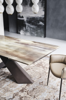 Tyron Crystalart Designer Extending Dining Table