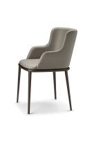 Magda ML Carver Dining Chair with Metal Legs