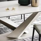 Stratos Keramik Dining Table - Base View