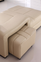 Cosmo Leather Footstool