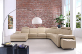 Cosmo Cotemporary Corner Sofa - Living Room