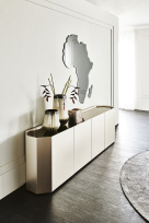 Chelsea Titanium Sideboard with Africa Mirror
