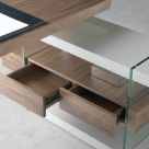 Layer Office Desk - Glass Supports