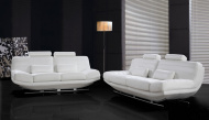 Noir Modern Sofa Set - White Leather