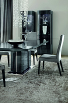 Montecarlo Extending Dining Table - Chrome Base