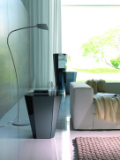 Otto Side Table - Black Glass
