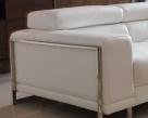 Savoy Sofa - White Leather - Arm View