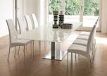 Aida White Leather Designer Chair