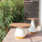 Mira Side Table - Ceramic Base
