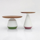 Mira Side Table - Wood Top