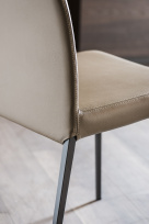 Anna High Back Dining Chair with Matching Stitching